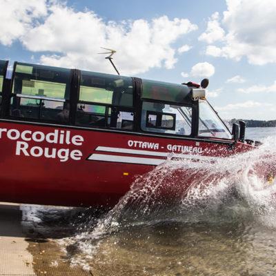 Amphibus Crocodile Rouge